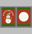 christmas greeting or invitation card template vector image vector image