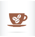 coffee cup beans icon vector image vector image
