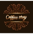Coffee shop logo with mandala vector image