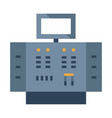 control panel flat vector image vector image