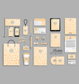 corporate identity template set with beekeeping vector image