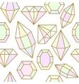 Diamond jem shape seamless pattern vector image vector image