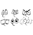 different human facial expressions vector image vector image