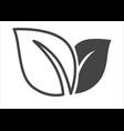 ecology friendly production logo or emblem leaves vector image