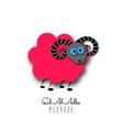 Eid-Al-Adha greeting card with sheep vector image vector image