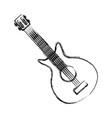 electric guitar icon vector image vector image