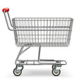 empty supermarket cart vector image vector image