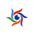 eye vision abstract sun color logo icon vector image vector image