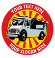 food truck badge design vector image vector image