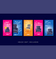 furniture instagram stories promotion template vector image
