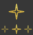 Gold line cross logo design set vector image vector image