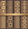 golden arabesque patterns vector image vector image