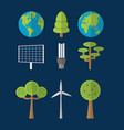 green energy and world collection vector image vector image
