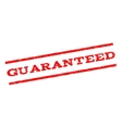 Guaranteed Watermark Stamp vector image vector image