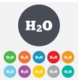H2O Water formula sign icon Chemistry symbol