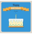 Happy birthday card with a cake and candles vector image vector image