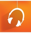 Headphones web icon flat design vector image
