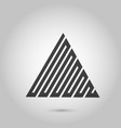 hipster triangle background poster with vector image vector image