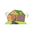 Huse In Earthquake Natural Forces Threat vector image