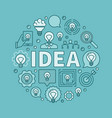 idea round blue vector image