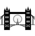 image of cartoon tower bridge and london eye vector image