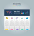 infographic design business concept with 5 vector image