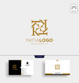 initial k luxury logo template and business card vector image vector image