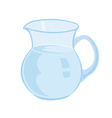 Jug with milk isolated on a white background vector image vector image