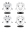 lamb in different styles vector image