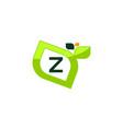 leaf initial z logo design template vector image