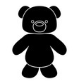 little bear black color icon vector image vector image