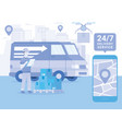 logistics and transportation delivery service vector image
