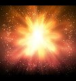 magic sun design with burst rays abstract shining vector image