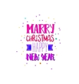 Marry xmas and New Year bright colors vector image vector image