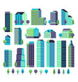 minimal buildings buildings and skyscrapers vector image vector image