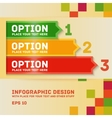 Modern colorful flat designed option template For vector image vector image