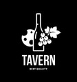 modern wine logo sign for tavern restaurant vector image vector image