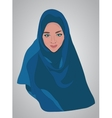 muslim girl dressed in colored hijab vector image vector image