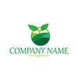 organic plant logo vector image