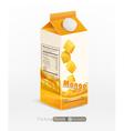 pack of mango juice isolated on white background vector image