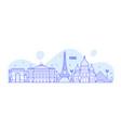 paris skyline france city notable buildings vector image vector image