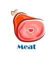 Pork or beef leg with bone vector image vector image