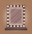 Realistic makeup mirror with bulbs vector image vector image