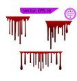 red dripping paint melting drip background vector image