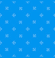 seamless airplane pattern flying plane on blue vector image vector image