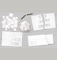 set creasy paper sheets vector image vector image