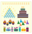 Set of celebration design elements vector image vector image
