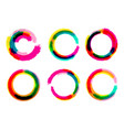 set of grange circles color circle brush vector image vector image