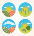 set scenes farm garden vector image vector image