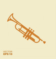 simple icon trumpet flat icon with scuffed effect vector image vector image